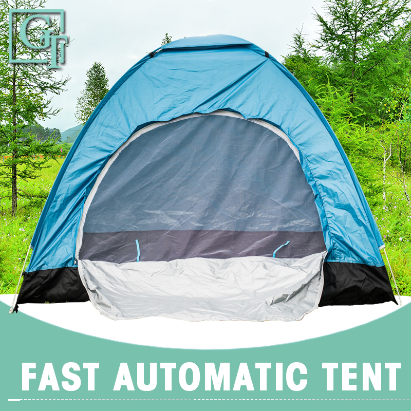 GT 2-3 Person Camping Tent Hydraulic Waterproof Tents Ultralight Outdoor Hiking Picnic Quick Automatic Opening Tent TF-006