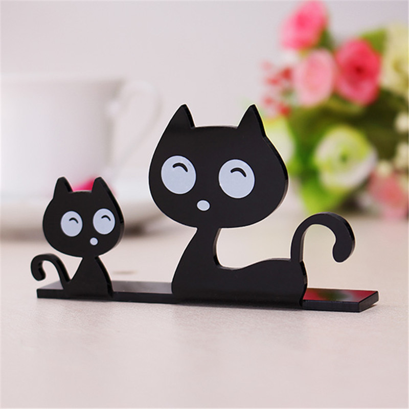 product Cute Cat Owl Acrylic Crafts Furnishing Articles Home Decor Creative Ornaments Table Miniaturas Desktop Decoration Birthday Gift