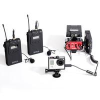 Беспроводные ПЕТЛИЧНЫЕ микрофон микрофонный передатчик приемник для DSLR видеокамеры Аудио регистраторы LCC77