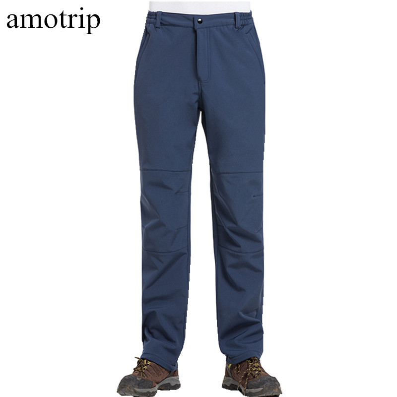 Amotrip Winter Outdoor Men Camping & Hiking Pants Climbing Skiing Breathable Pant Sweat pants Waterproof Thermal Sports Trousers