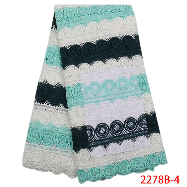 Phong cách mới nhất guipure ren vải cho phụ nữ bên váy 2018 chất lượng cao Phi Nigeria sữa sợi ren vải NA2278B-1