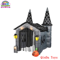 Giant halloween decoration inflatable pumpkin haunted house,halloween inflatable haunted house for sale