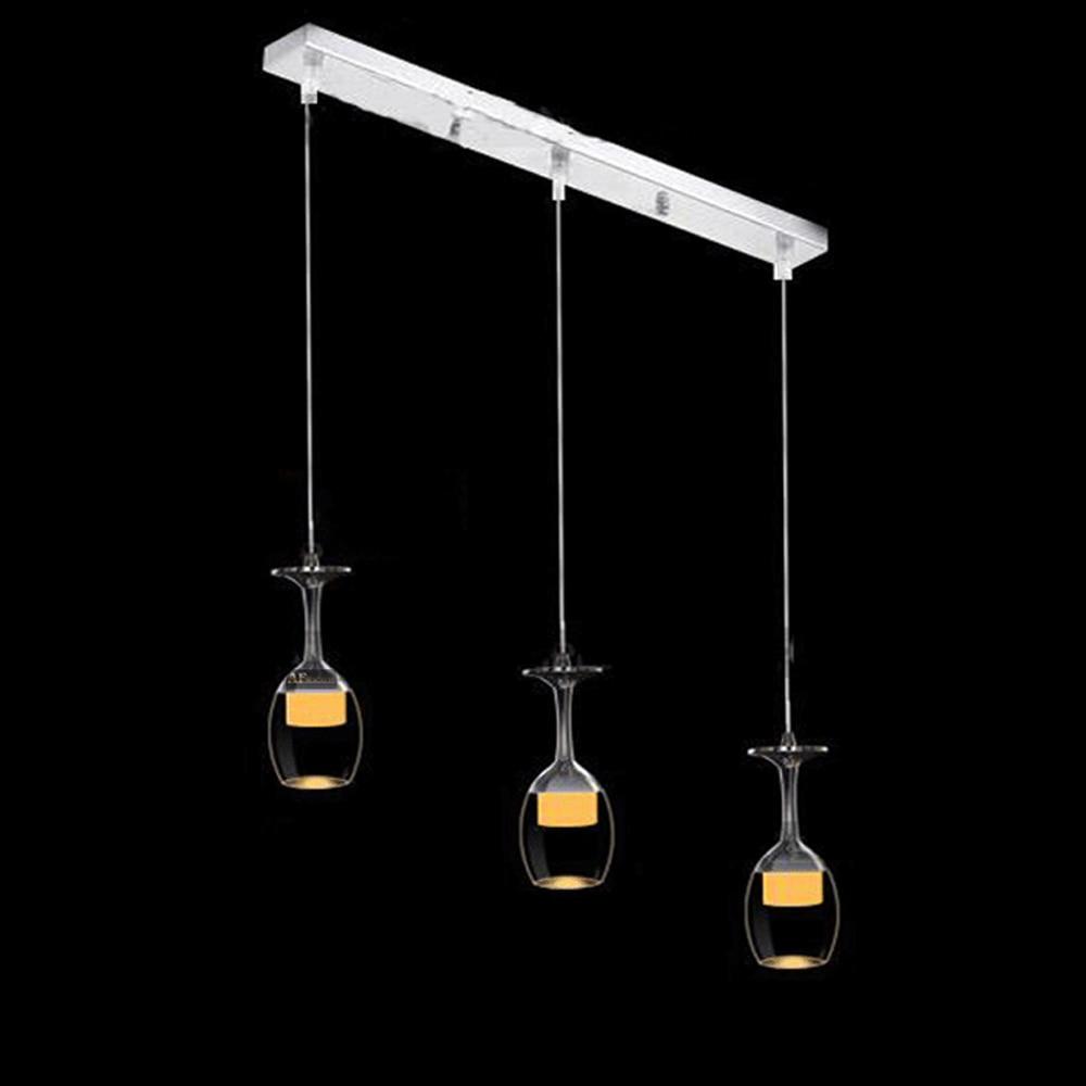 Moderne acrylique pendentif lumière inversé tasse conception led verre à vin moderne pendentif lampe celling lumières