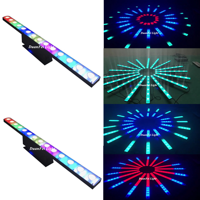 6pcs With Flightcase Led Wall Washer Light 14x3w 2in1 Magic Dj Light Led Bar Light Led Dmx Dj Disco Stage Light For Landscape Commercial Lighting