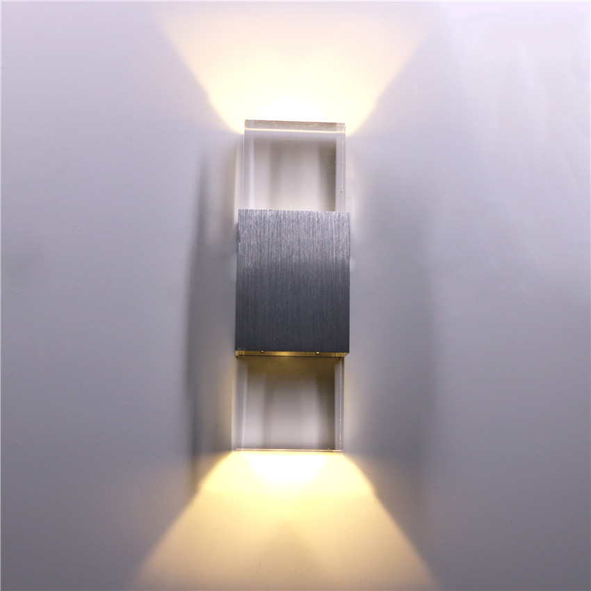 Led Lamps Led Indoor Wall Lamps Modern Led Indoor Decoration Lighting Crystal Wall Lamp Up And Down Wall Sconce Aluminum 6w Ac85-265v For Bath Corridor B10n
