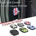 2 pcs Mini Cooper F56 F55 porta Do Carro porta fivela trava da tampa resistente à ferrugem estilo union jack