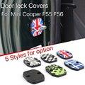 2 unids Mini puerta Del Coche Cooper F56 F55 resistentes a la roya puerta hebilla de la cerradura cubierta de estilo de la unión jack