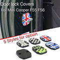 2pcs Mini Cooper F55 F56 Car door rust resistant door lock buckle cover union jack style