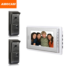 7″ LCD Monitor 2 to 1 video door Phone DoorBell DoorPhone Intercom System Support Night vision
