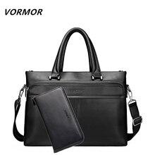 VORMOR 2 Set Men Shoulder Bags PU Leather Man Bags Fashion Male Man Casual Messenger Bag