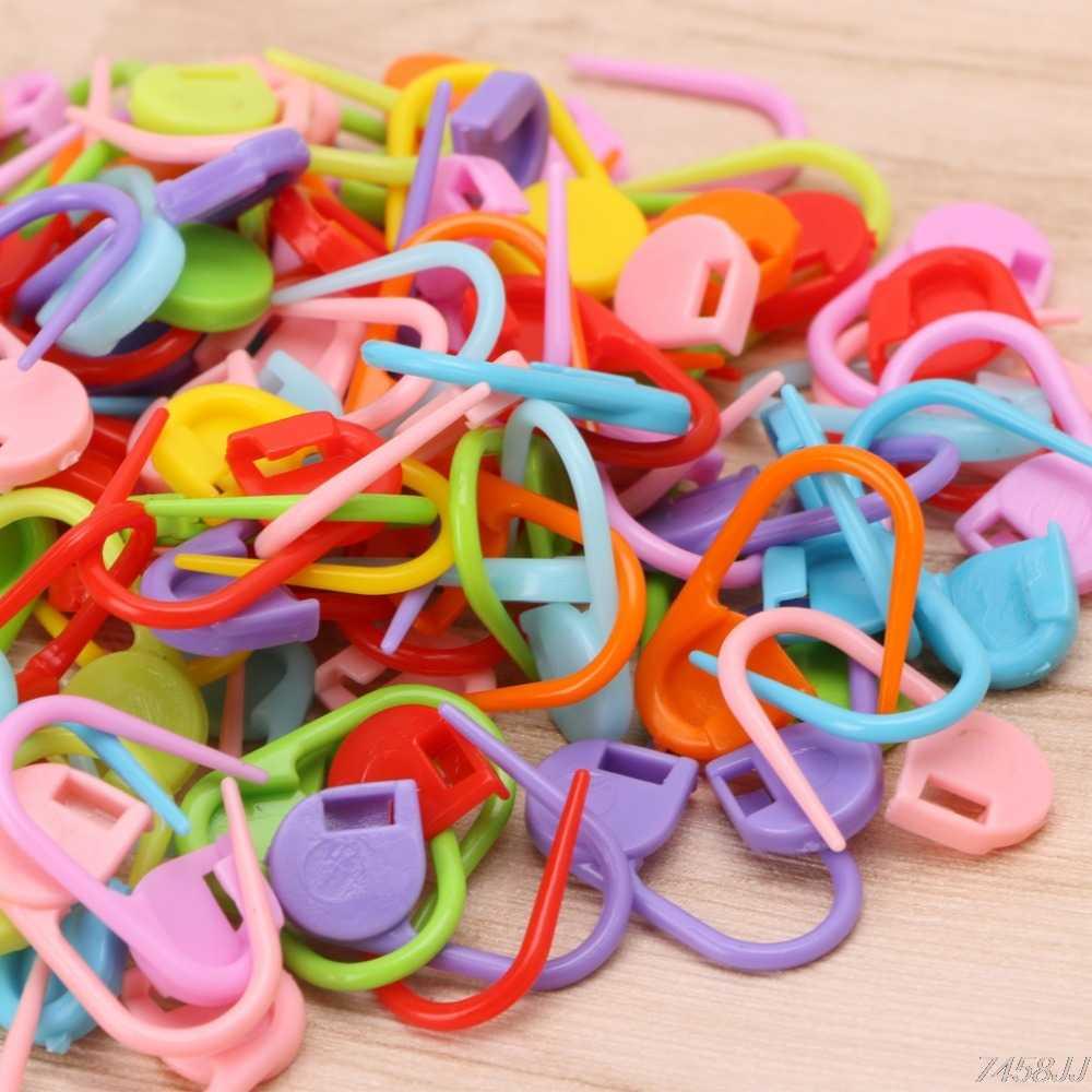100 pcs//pack Knitting Craft Crochet Locking Stitch Needle Clip Markers Holder
