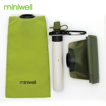Survival Outdoor Camping & Hiking Portable Water Purification with bag Filtered Water On The Go 2