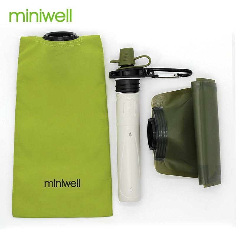 Filtro de Água de Emergência Livre Miniwell Novo Design Portátil