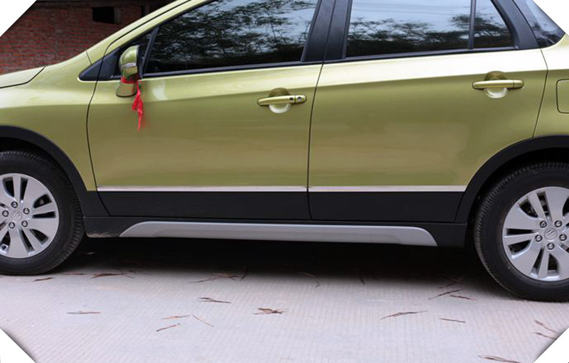 2014-2018 For Suzuki SX4 S-Cross Stainless steel Door Body Side Trim Cover Molding car Styling Accessories