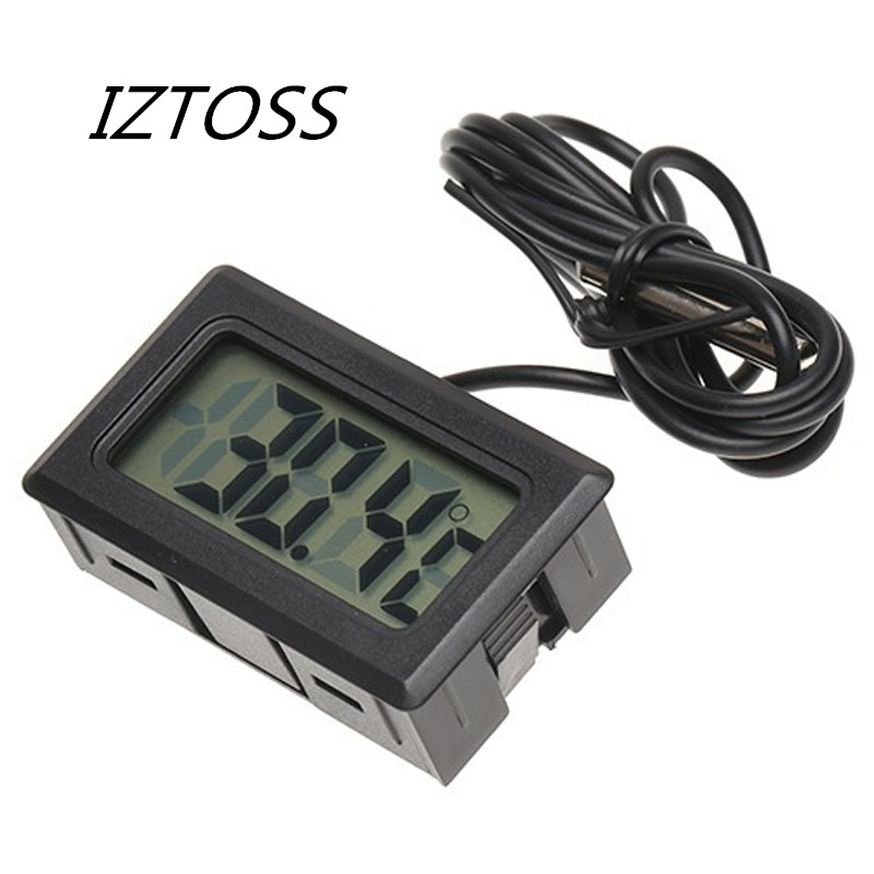 IZTOSS Digital LCD Display Indoor Temperature Meter Diagnostic Tools Thermometer Temperature Sensor