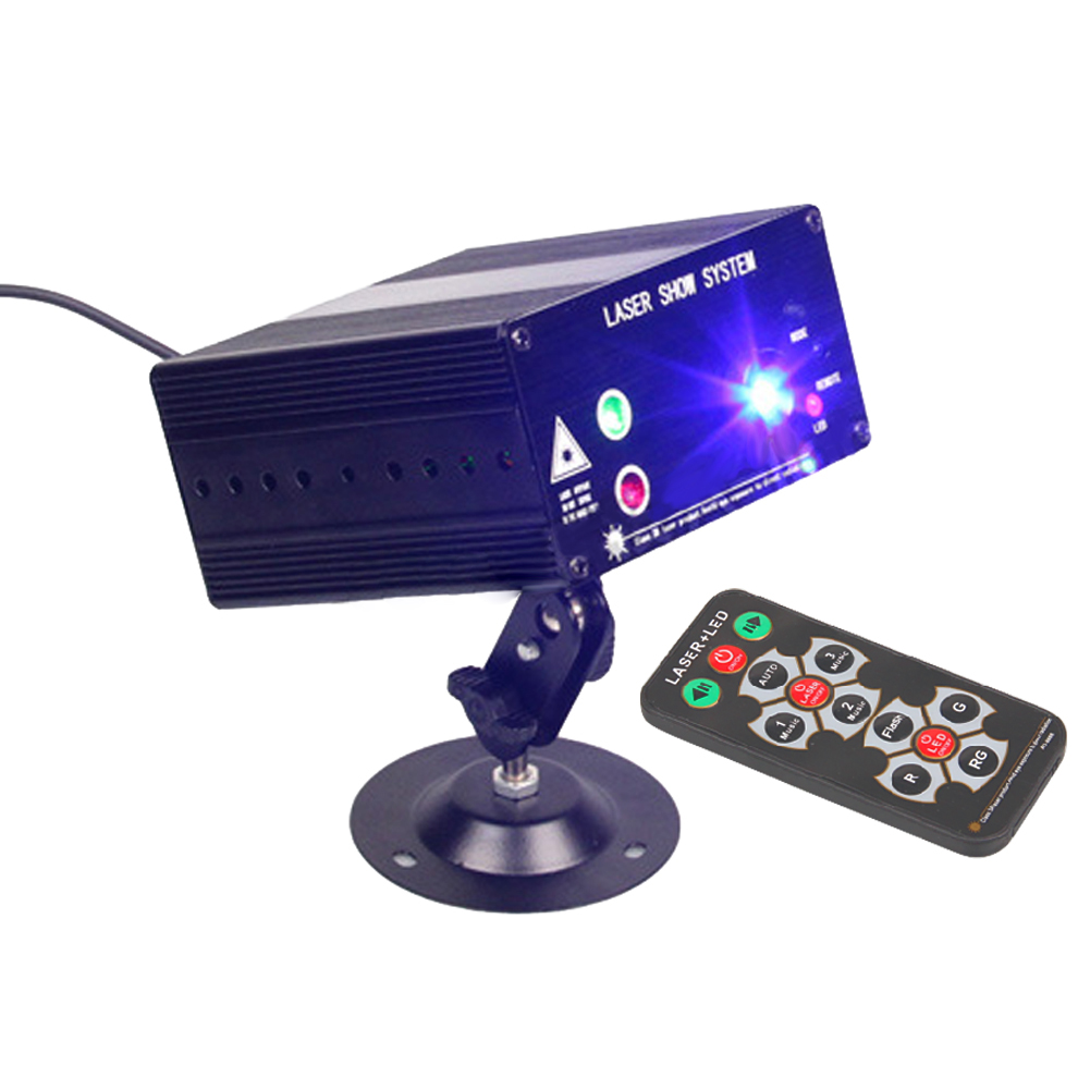 48 Patterns Rotating RGB Laser Projector Light Stage Lighting RED Green Blue LED DJ KTV Disco Show Stage Light UK Plug A-48