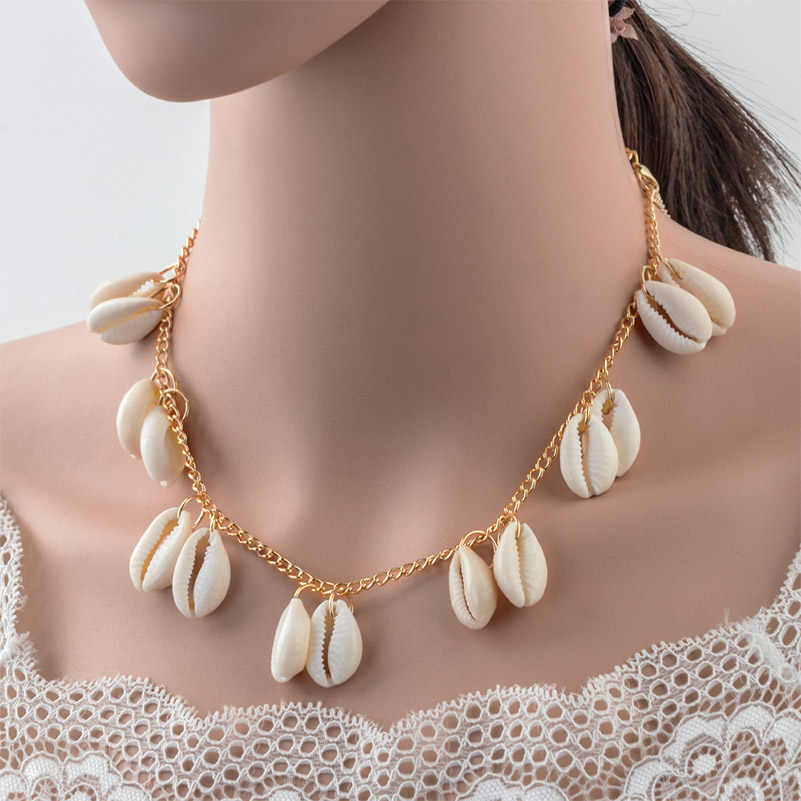 Shuangshuo Fashion Shell Choker Necklace Seashell Pendant Necklaces For Women Gold coquillage Beach Jewelry collier femme 2019