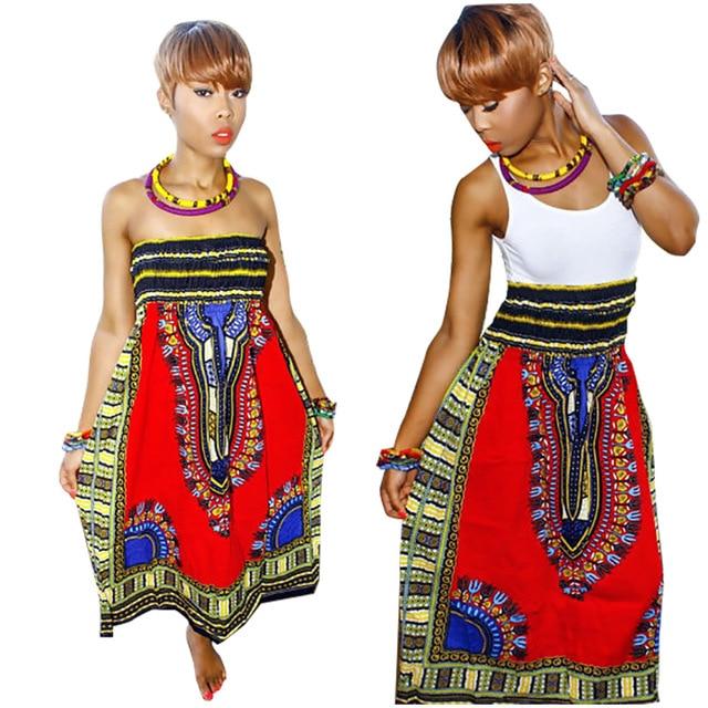 aaacdcaff6a Summer 2016 Dashiki Dress African Dresses for Women Bazin Riche Clothes  Maxi Tribal Print Long Slash Neck Off-shoulder