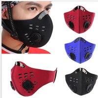 Anti-poussière Masque Air Pollution Anti-brume PM2.5 Activé le Masque De Carbone Sports De Plein Air Voyage Moto Vélo Bouche Masque coupe-vent