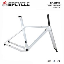 купить Smileteam 2017 Newest Axle 142/135mm Road MTB Gravel Carbon Bike Frame Gravel Carbon Bicycle Frame Cyclocross Disc Bike Frame дешево