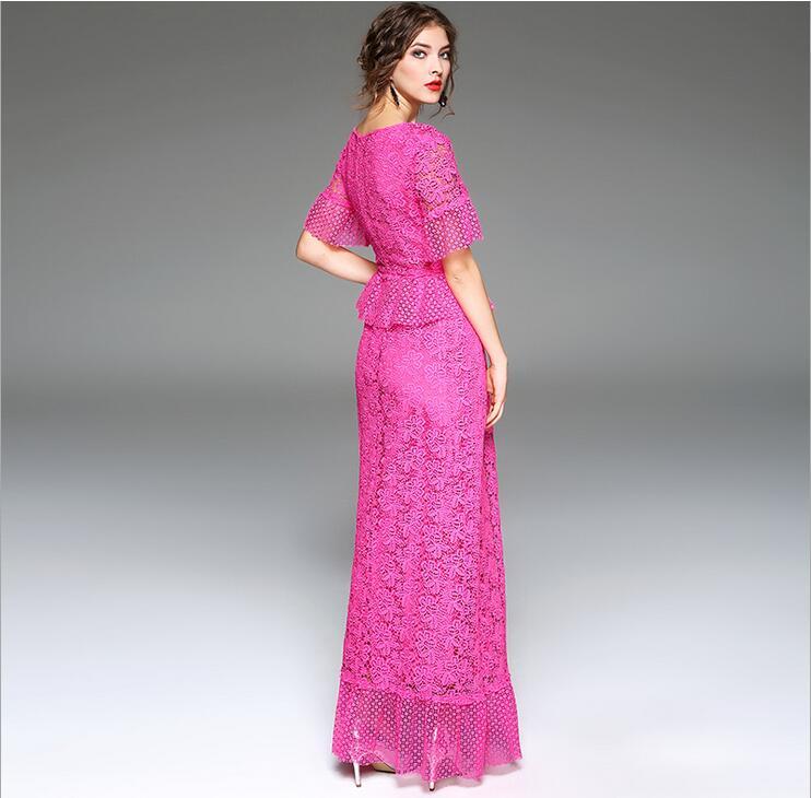 HflyluY Elegantes Vestidos Largos de Las Mujeres de Gama Alta Fiesta ...
