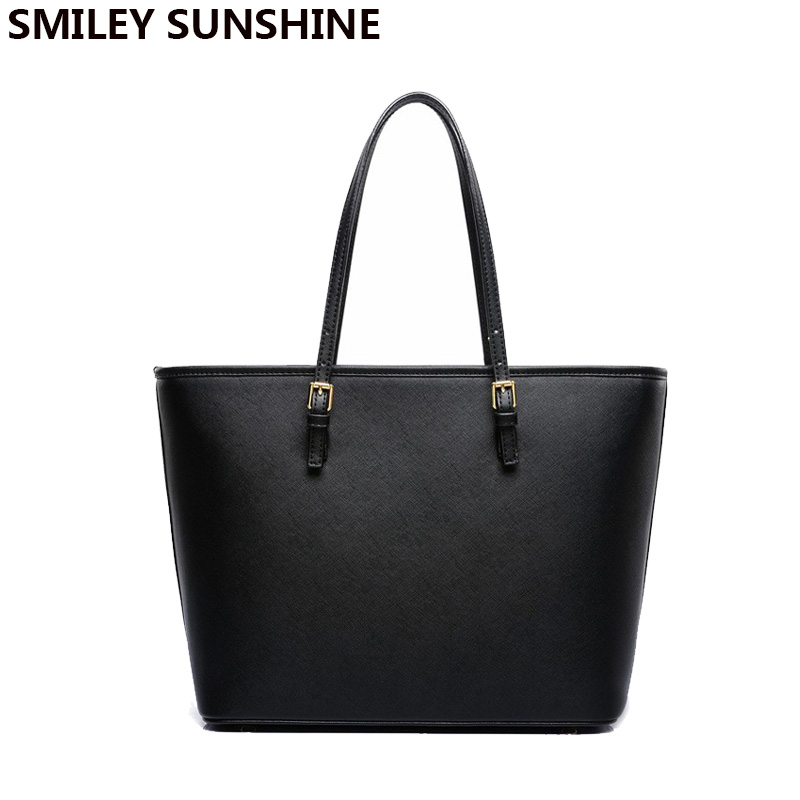 SMILEY SUNSHINE Luxury brand women handbags designer shoulder bags female big  tote hand bags ladies top-handle bags sac a main