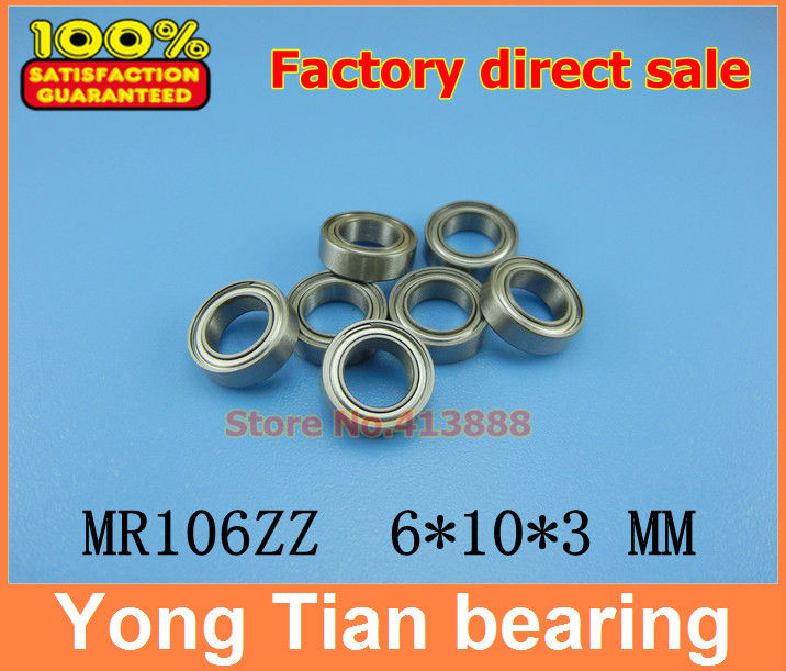 Free Shipping 10 PCS MR106ZZ ABEC-5 6X10X3 mm Deep groove Ball Bearings MR106 / L-1060 ZZ gcr15 6326 zz or 6326 2rs 130x280x58mm high precision deep groove ball bearings abec 1 p0