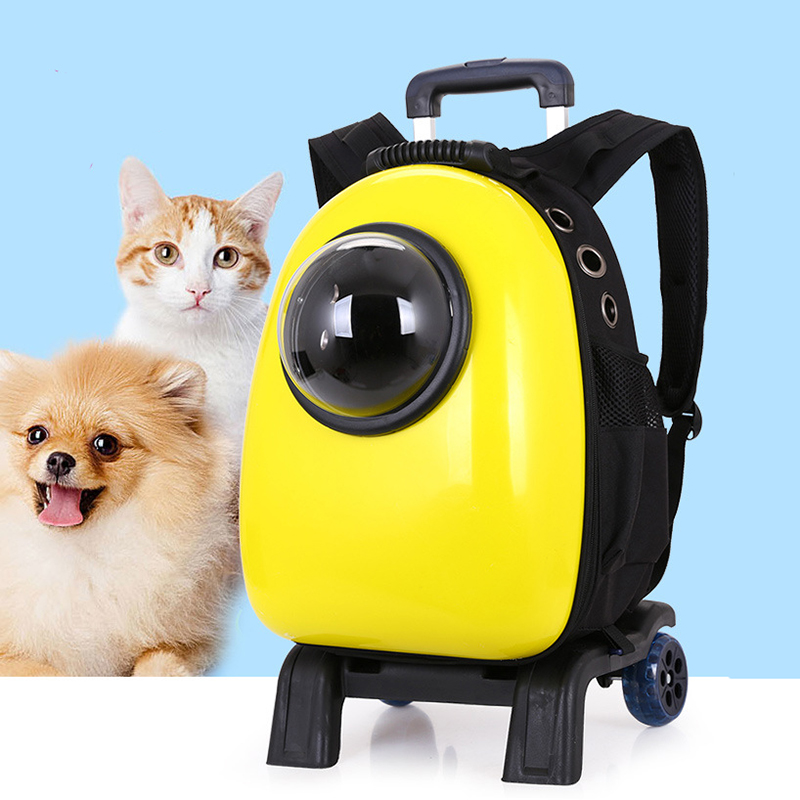 Letrend Pet Backpack Travel Duffle Rolling Luggage Unisex Carry On Suitcases Wheel Versatile Large Capacity Trolley Cat Dog Bag trolley travel bag hand luggage rolling duffle bags waterproof oxford suitcase wheels carry on luggage unisex small size
