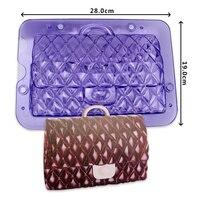Free shipping FDA high quality 3D handbag chocolate fondant mould cake decoration tool
