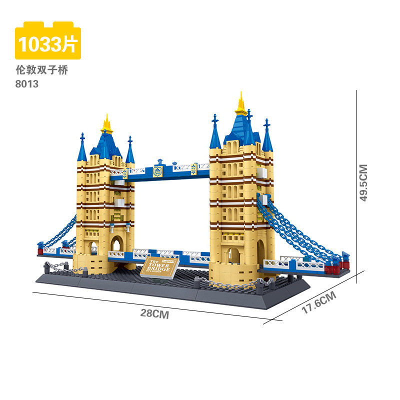 8013 Creator 10214 London Tower Bridge Building Block Wange Structure  educational Bricks Set Toy Gift Compatible With Lego-in Blocks from Toys &  Hobbies on ...