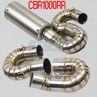 Motorcycle Exhaust Full System Muffler Middle Pipe Link Tube For HONDA CBR1000RR 2008 2009 2010 2011 2012 2013 2014 Year AK212