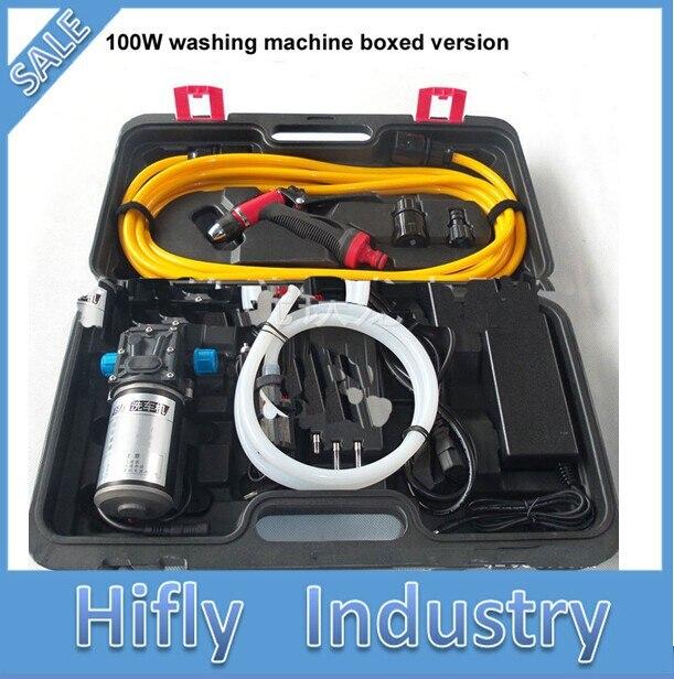 Adaptateur 12 V et 220 V avec malette 100 W le lave-auto haute pression lave-linge Portable lave-auto électrique