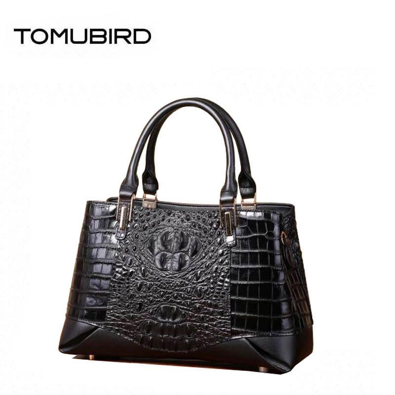 Women genuine Leather bag superior cowhide bags for women 2018 Crocodile pattern fashion tote bags handbags women famous brands fashion style women crocodile pattern doctor women backpack famous bags women s pu leather rucksack bag z762