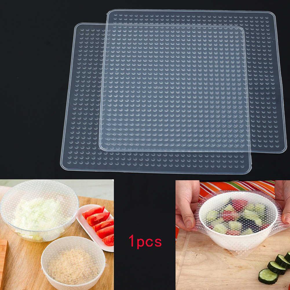 قابلة لإعادة الاستخدام الغذاء الفاكهة غشاء مانع للتسرب سلطانية من السليكون التفاف المطبخ البيئي إبقاء الاشياء أداة جديدة لأفران الميكروويف الثلاجة