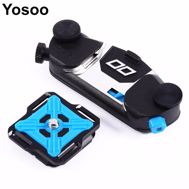 For DSLR for Gopro Hero 4 for Xiaomi Yi Camera Quick Release Shoulder Waist Belt Strap Buckle Hanger Holder Tripod Mount