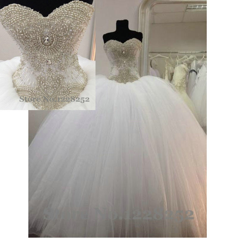 Luxury Princess Ball Gown Wedding Dresses 2017 Vintage Wedding Gowns With Pearls Sweetheart Corset Cathedral Bridal Gowns Wedding Gowns Vintage Wedding Gownprincess Ball Gown Aliexpress,Wedding Knee Length Wedding White Cocktail Dress