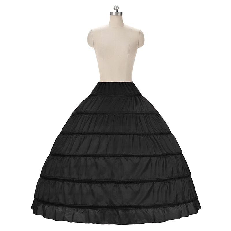 2018 HOT koop 6 Hoop Petticoat Onderrok Voor Baljurk Trouwjurk - Bruiloft accessoires - Foto 5