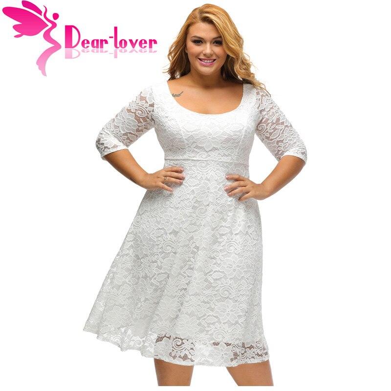 Dear Lover Autumn Dress Plus Size Women Clothing Whiteblack Floral