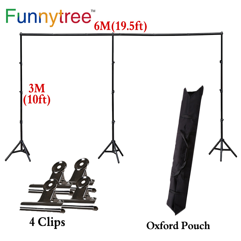 Funnytree 3X6M big size holder adjustable photography accessories background support backdrop stand for photo studio