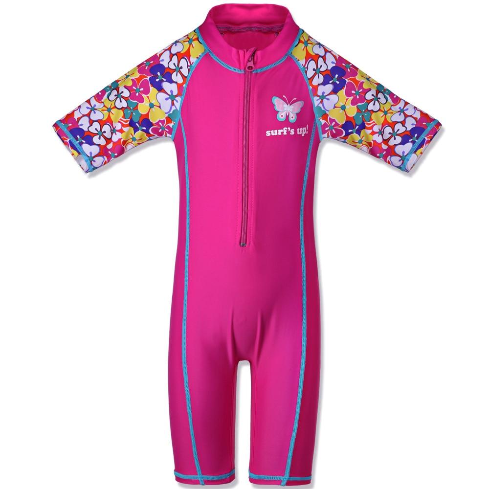 BAOHULU Print Short Sleeve Girls Swimwear One Piece UPF UV50+ Swimsuit Kids Summer Swimming Suit for Boys 3-10 Yrs wholesale