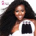 7A Brasileiro kinky curly virgem cabelo 3 Bundles rosa produtos de cabelo 100% Cabelo Unrpocessed Brasileiro Virgem brasil Profundo Tecer Encaracolado