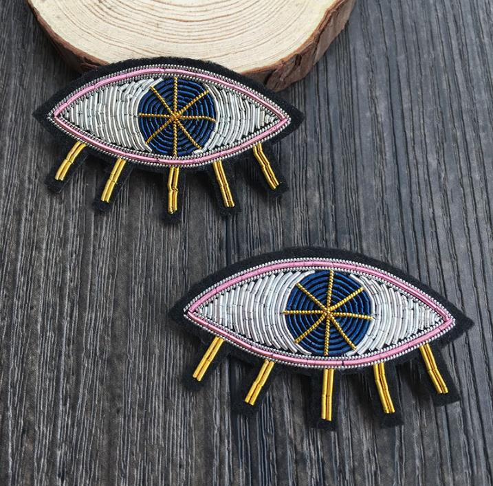 Diy Handmade Embroidered Patch: Tear Silk Emboridered Patch Brooch India Silk Wire