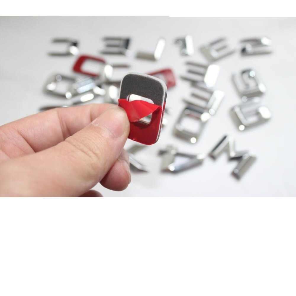 """Cromo de Prata """"ML 350"""" Tronco Traseira do carro de Palavra Letras Emblema Emblema Carta Adesivo Decalque para Mercedes Benz ML Classe ML350"""