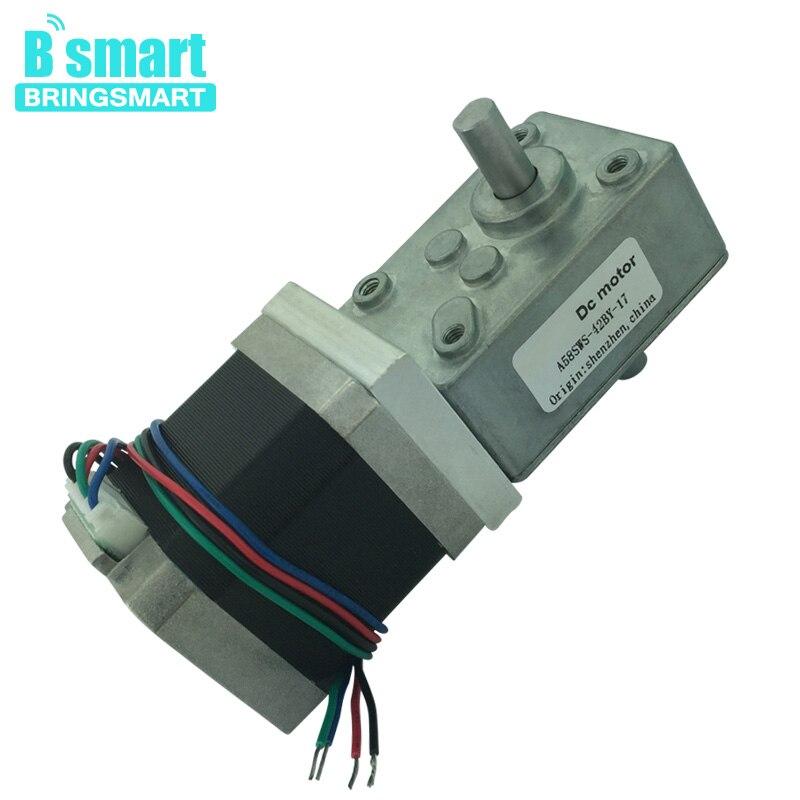 Bringsmart A58SW-42BYS 12 V 4 fils double sortie arbre DC Micro DC moteur pas à pas 24 V électrique vis sans fin moteur auto-bloquant
