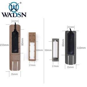 """Image 3 - WADSN Airsoft 4.125 """"ITI TD Narbe Tasche Panel Remote Schalter Pad Schwanz Schützen Slot Passt 20mm schienen PEQ15 scout Licht Zubehör"""