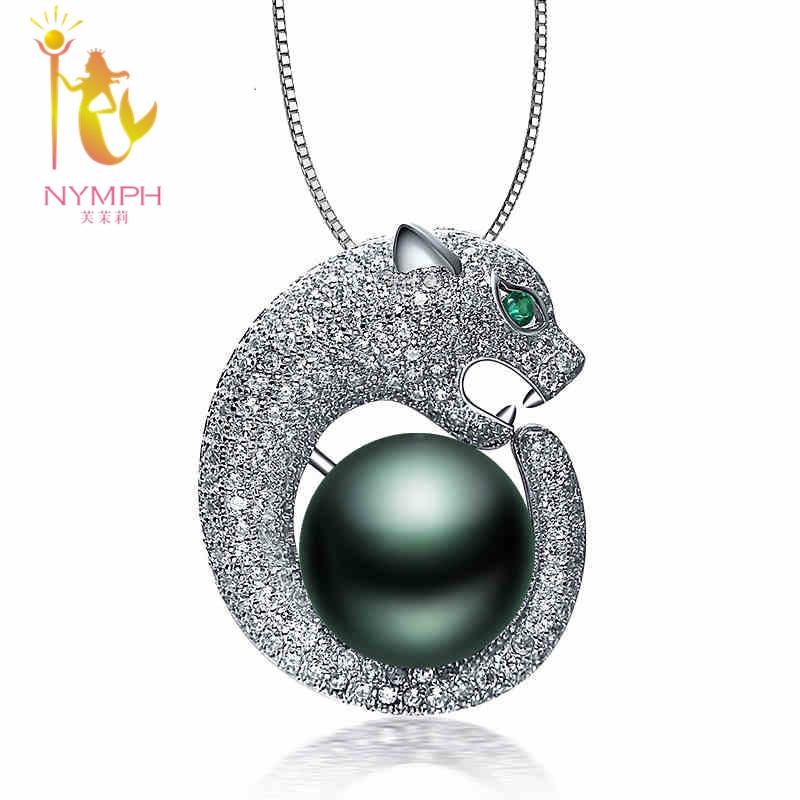 2cf602a7dc78 Marca perla joyas Maxi natural Tahitian negro perla colgante collares de  colgantes de perlas mejor regalo para las mujeres TH01