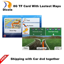 GPS accessories 8G gps maps sd card 2016 latest Map for WinCE car gps navigation map Europe/Russia/USA/CA/AU/Israel Car gps map