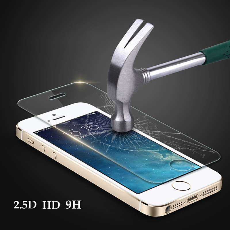 Premium 0.3mm 9H 5 5S SE Tempered Glass Explosion Proof Screen Protector Protective Film Toughened Membrane For iphone 5 5s SE