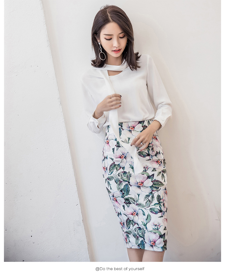 24cd3dda3 2018 Women's S-5XL Spring Summer Bandage Pencil Fashion Skirts High Waist  Slim Print Vintage
