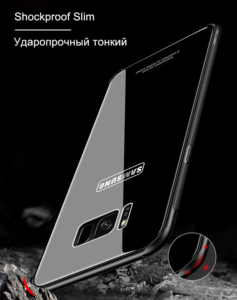 Case for Samsung NOTE 8 S8 Plus Kiitoo Luxury Glass Back Cover Hard Phone Case for Coque Samsung Galaxy S8 Plus Accessories -10